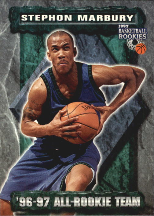 1997 Score Board Rookies #76 Stephon Marbury ART