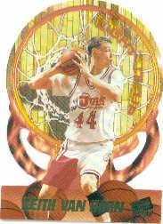 1997 Press Pass Double Threat Light It Up #LU2 Keith Van Horn