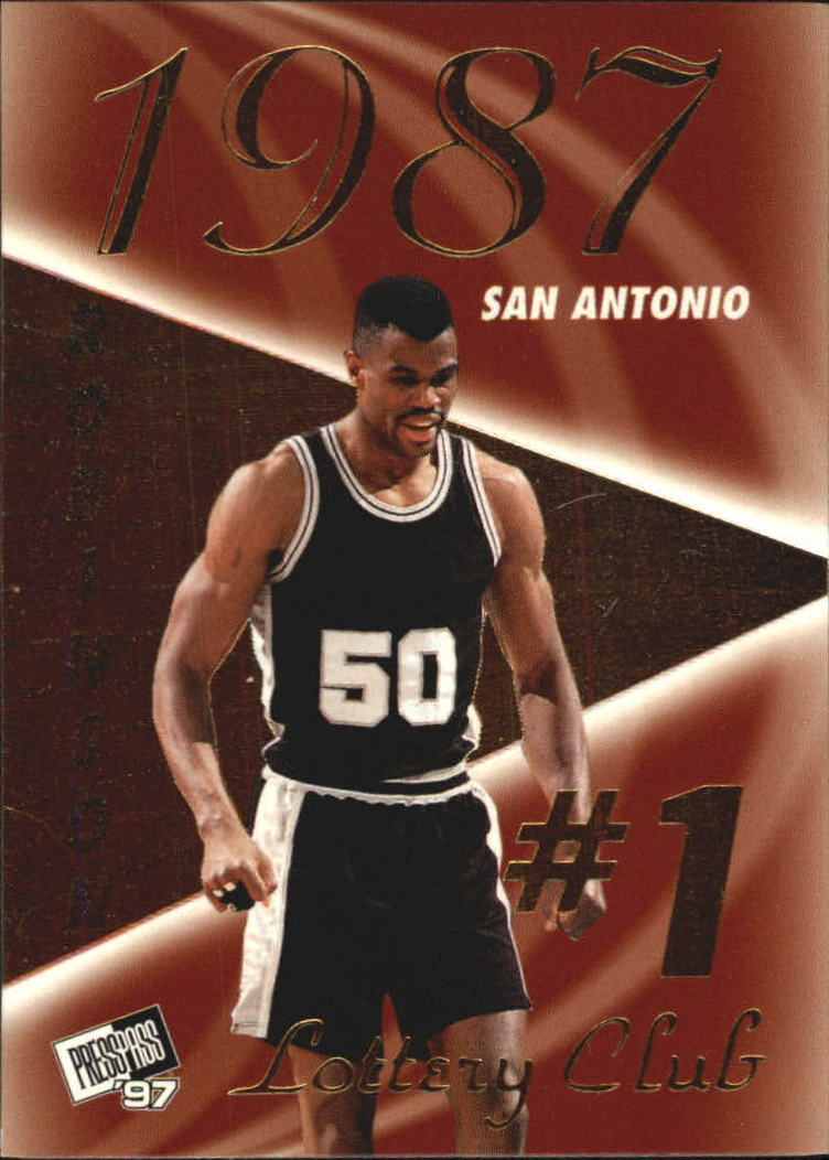 1997 Press Pass Double Threat Lotto #LC1B David Robinson
