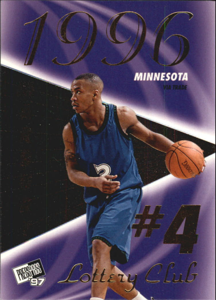 1997 Press Pass Double Threat Lotto #LC3B Stephon Marbury