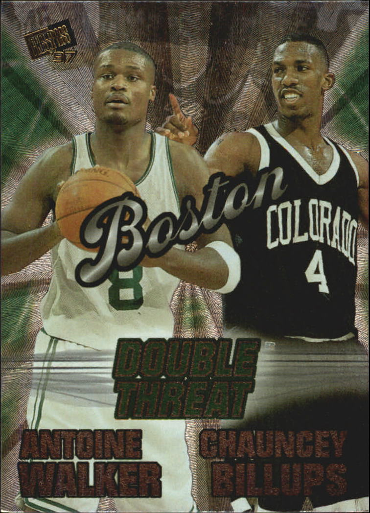 1997 Press Pass Double Threat Nitrokrome #DT6 Chauncey Billups/Antoine Walker
