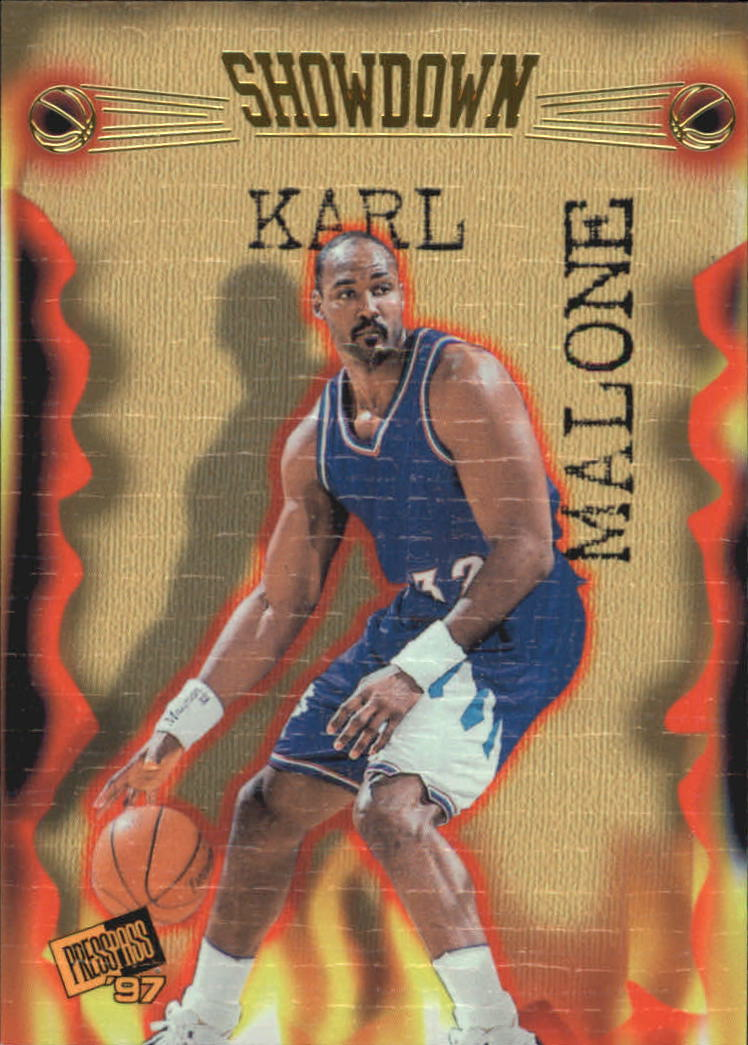 1997 Press Pass Double Threat Showdown #S2 Karl Malone/Danny Fortson