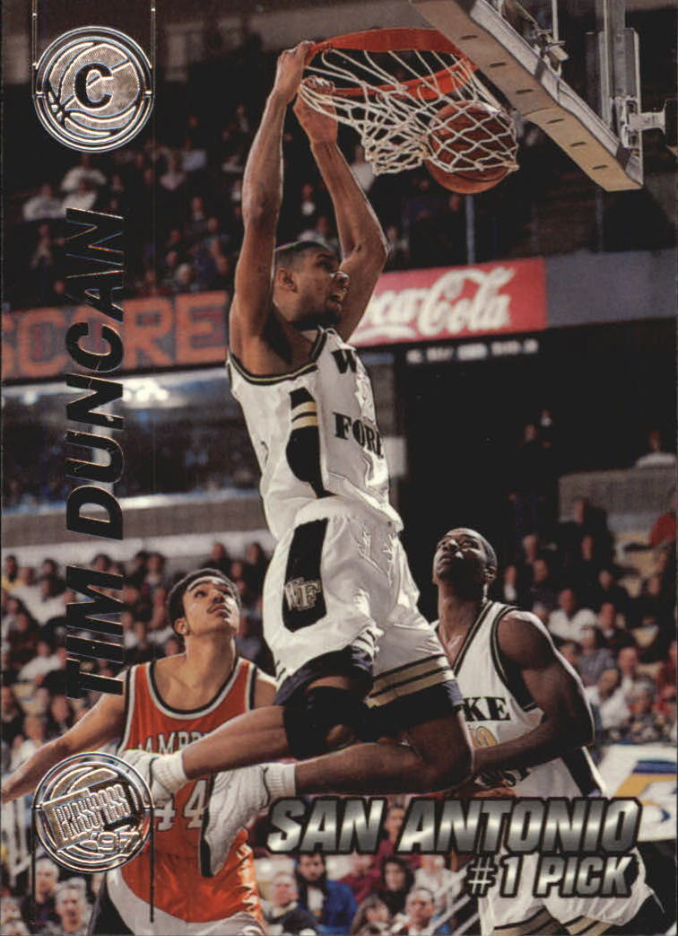 1997 Press Pass Double Threat Silver #1 Tim Duncan