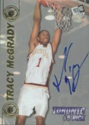 1997 Press Pass Double Threat Autographs #9A Tracy McGrady