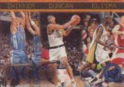 1997 Press Pass Blue Torquers #41 Serge Zwikker/Tim Duncan/Eddie Elisma