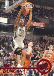 1997 Press Pass Red Zone #1 Tim Duncan