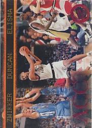 1997 Press Pass Red Zone #41 Serge Zwikker/Tim Duncan/Eddie Elisma