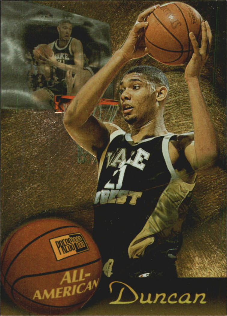1997 Press Pass All-American #A1 Tim Duncan front image
