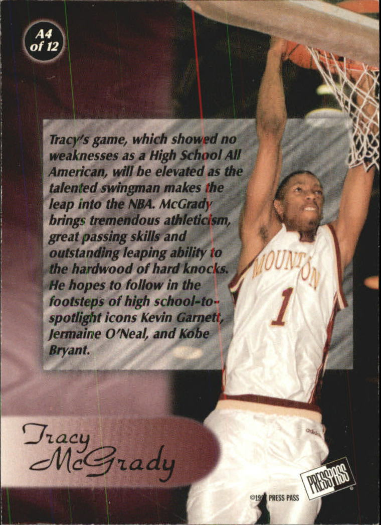 1997 Press Pass All-American #A4 Tracy McGrady back image