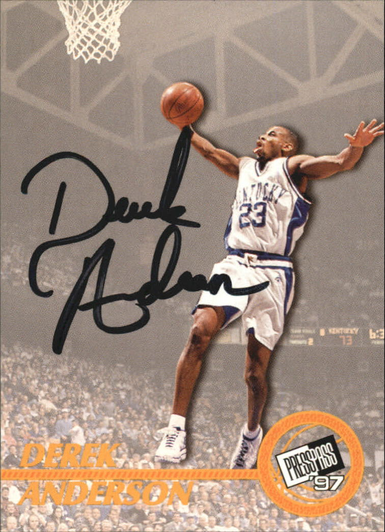 1997 Press Pass Autographs #1 Derek Anderson