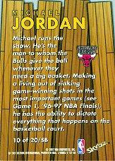 1997-98 Z-Force Super Boss #10 Michael Jordan back image