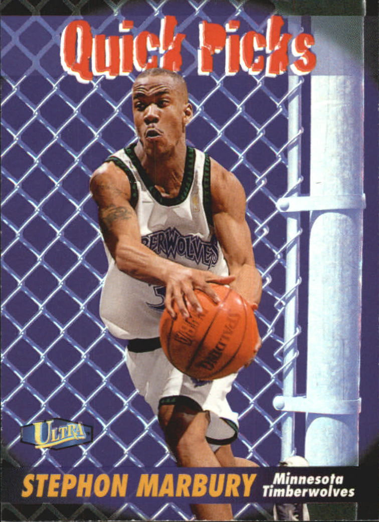 1997-98 Ultra Quick Picks #1 Stephon Marbury