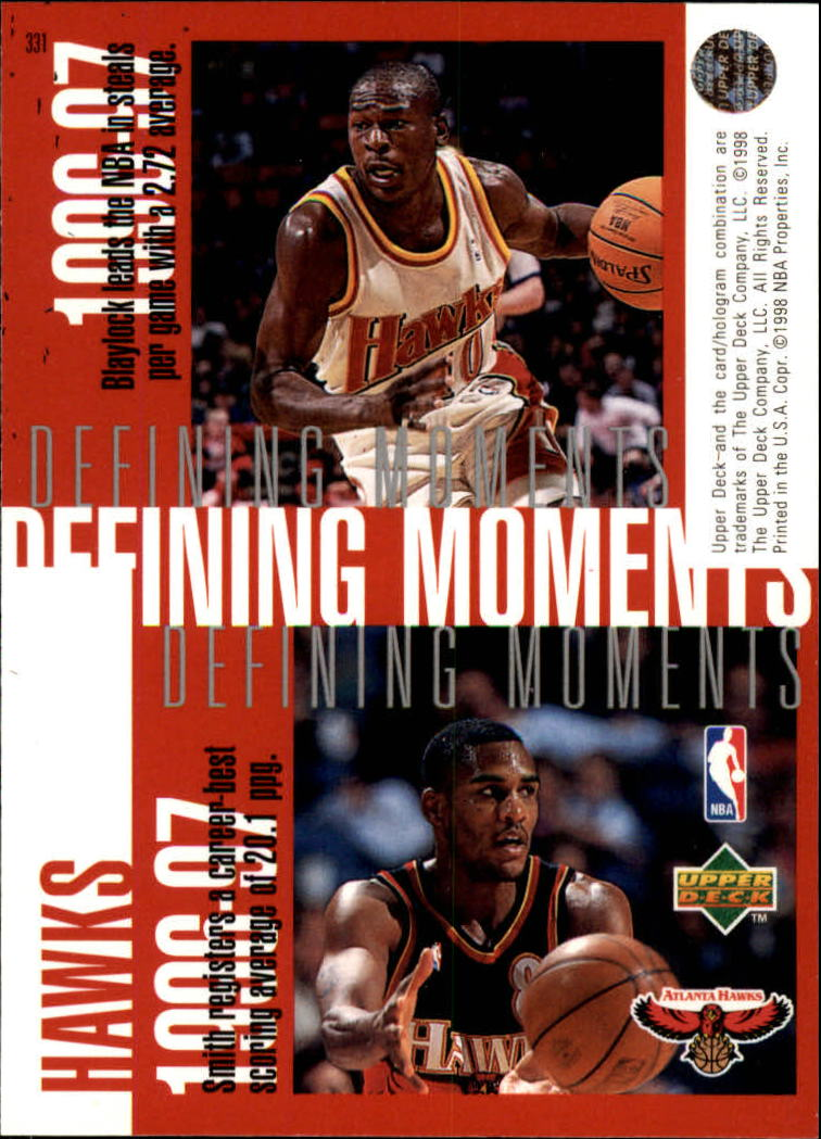 1997-98 Upper Deck #331 Dikembe Mutombo/Christian Laettner/Mookie Blaylock/Steve Smith back image