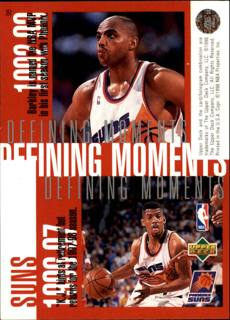1997-98 Upper Deck #351 Antonio McDyess/Jason Kidd/Charles Barkley/Kevin Johnson back image