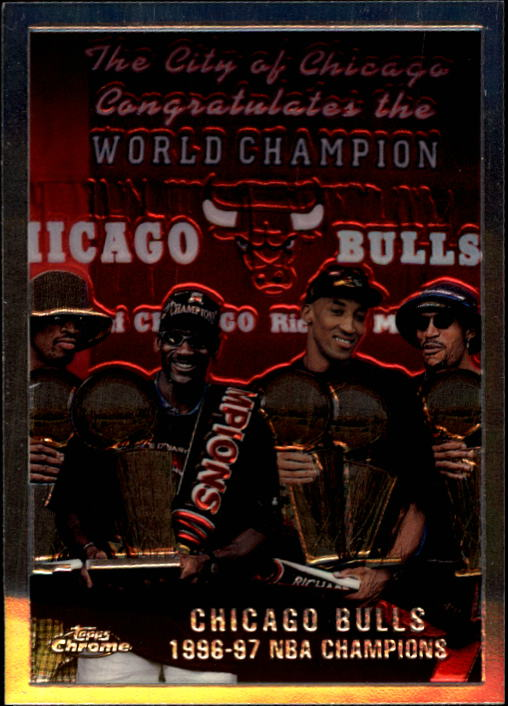 1997-98 Topps Chrome #51 Checklist/Bulls - Team of the 90s/Michael Jordan/Scottie Pippen/Dennis Rodman/Ron Harper