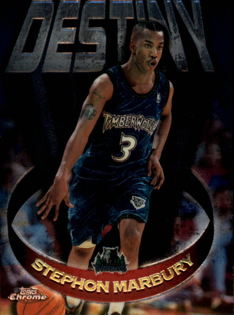 1997-98 Topps Chrome Destiny #D10 Stephon Marbury