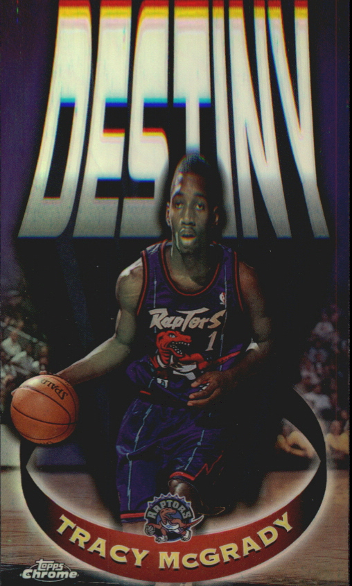 1997-98 Topps Chrome Destiny Refractors #D6 Tracy McGrady