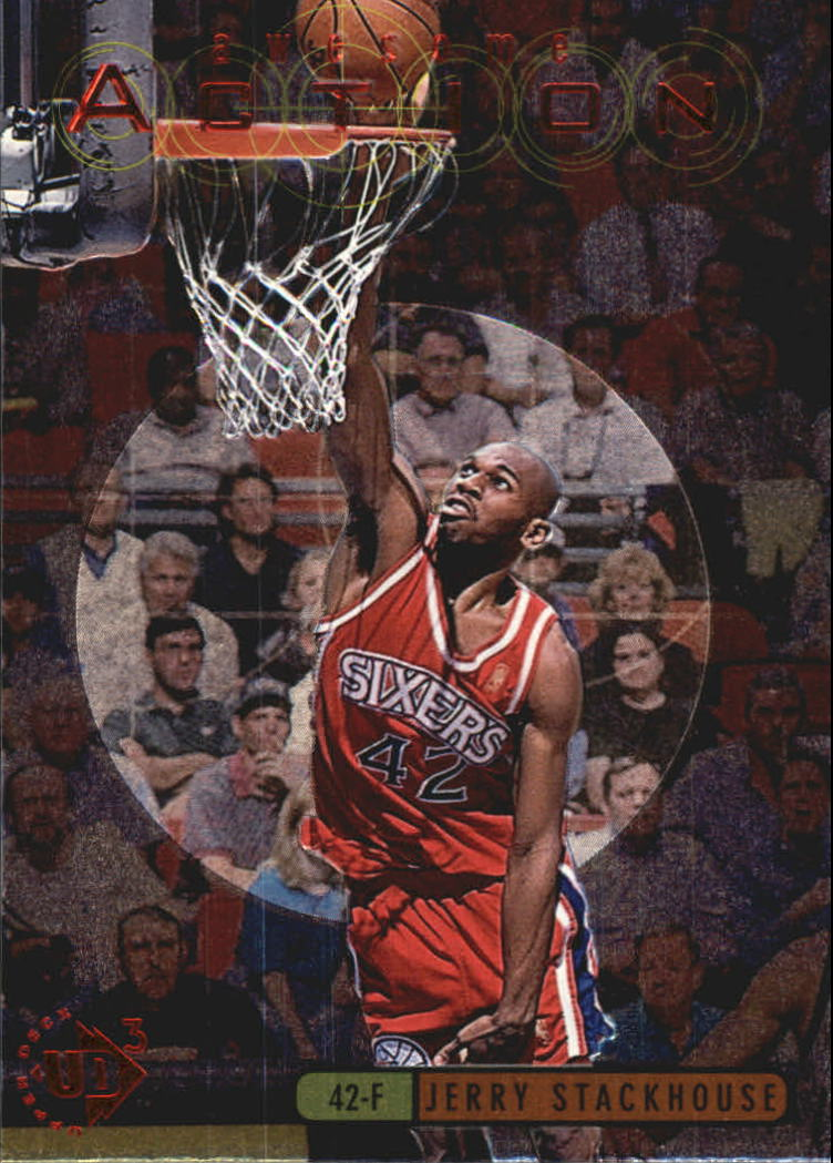 1997-98 UD3 Awesome Action #A3 Jerry Stackhouse