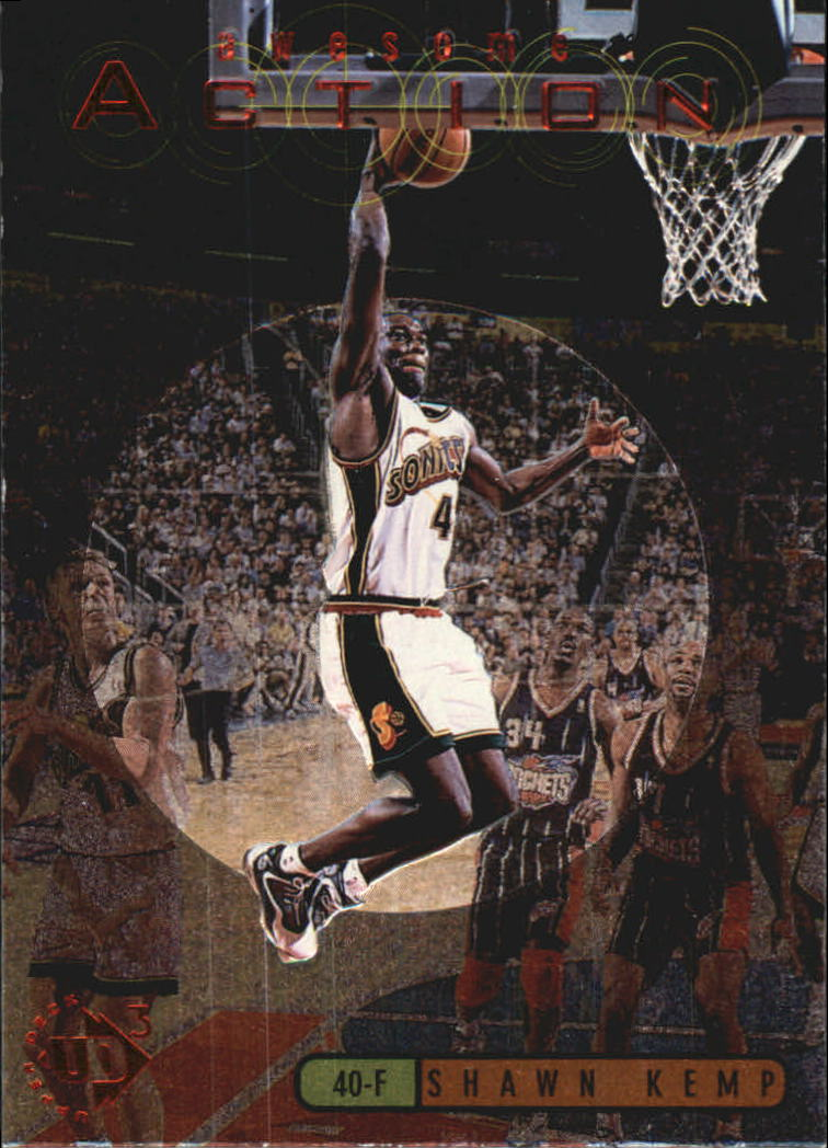 1997-98 UD3 Awesome Action #A4 Shawn Kemp