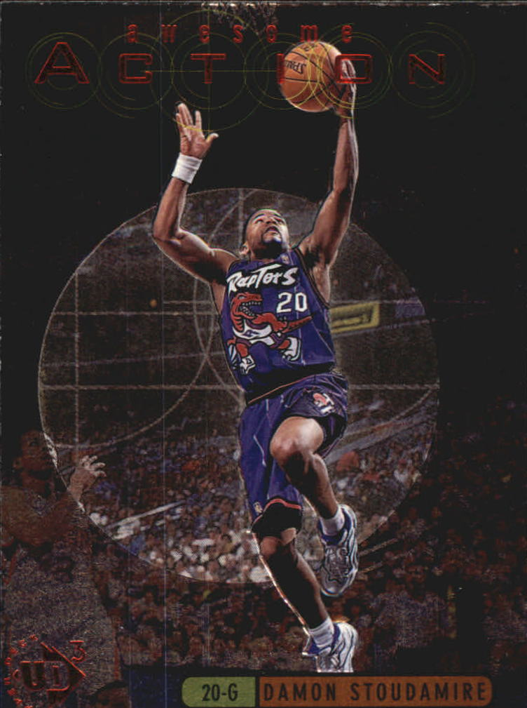 1997-98 UD3 Awesome Action #A9 Damon Stoudamire