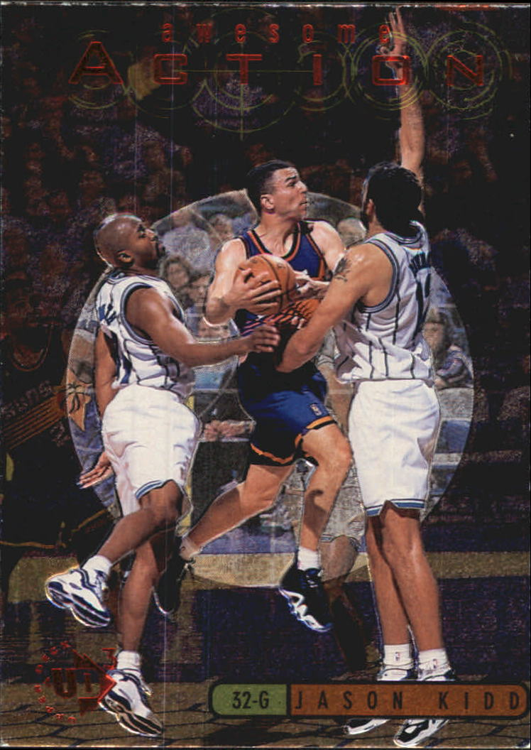 1997-98 UD3 Awesome Action #A16 Jason Kidd