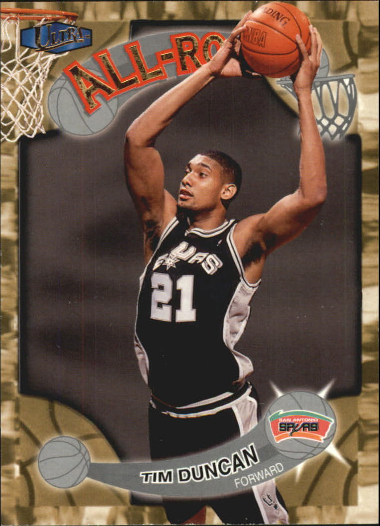 1997-98 Ultra All-Rookies #AR1 Tim Duncan