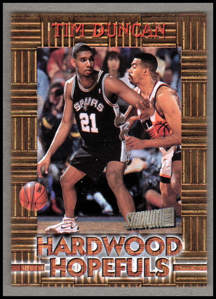1997-98 Stadium Club Hardwood Hopefuls #HH4 Tim Duncan