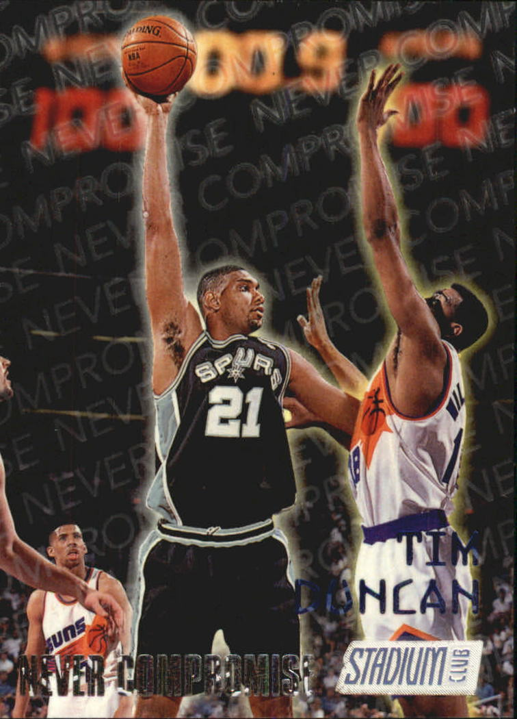 1997-98 Stadium Club Never Compromise #NC11 Tim Duncan
