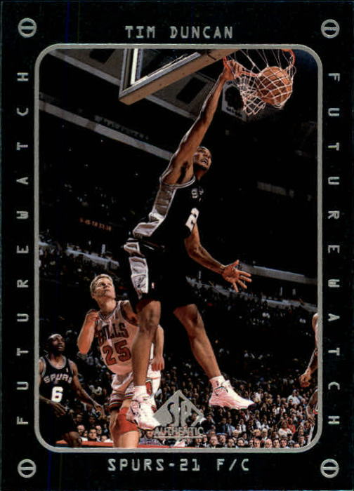1997-98 SP Authentic #165 Tim Duncan FW