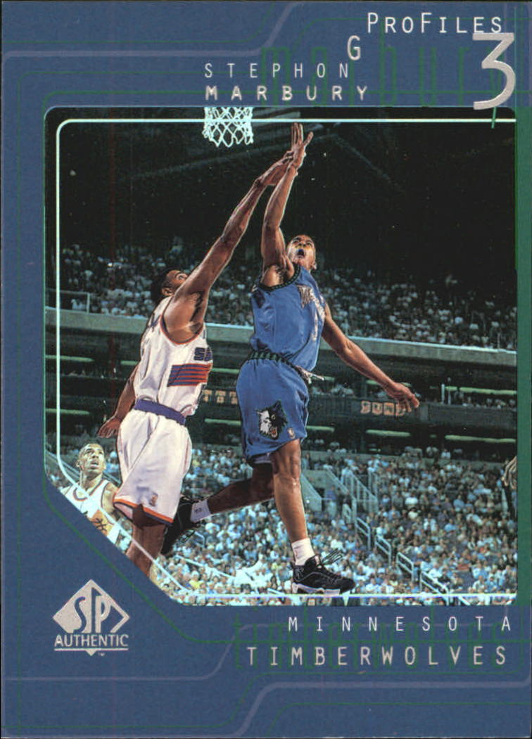 1997-98 SP Authentic Profiles 1 #P38 Stephon Marbury