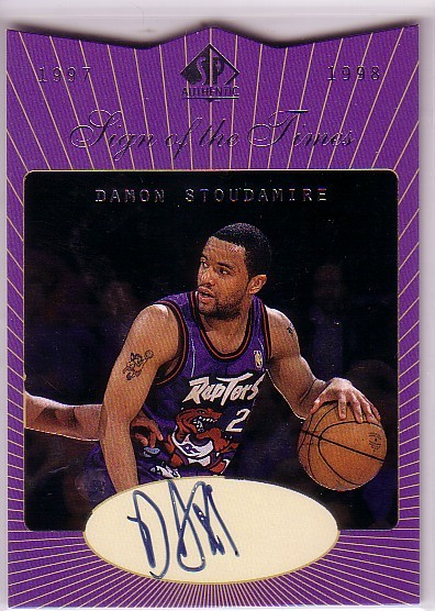 1997-98 SP Authentic Sign of the Times #DS Damon Stoudamire