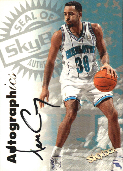 1997-98 SkyBox Premium Autographics #27 Dell Curry