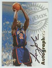 1997-98 SkyBox Premium Autographics #58 Larry Johnson