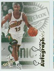 1997-98 SkyBox Premium Autographics #96 Eric Snow