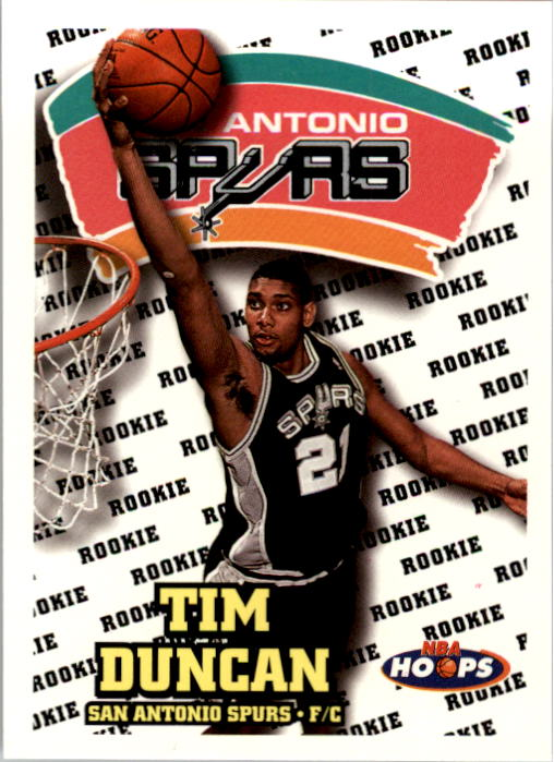 1997-98 Hoops #166 Tim Duncan RC