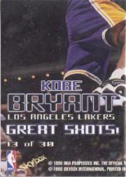 1997-98 Hoops Great Shots #13 Kobe Bryant