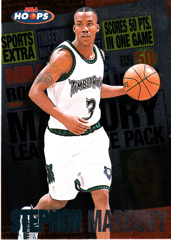 1997-98 Hoops Rookie Headliners #RH5 Stephon Marbury