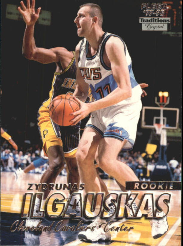 1997-98 Fleer Crystal Collection #218 Zydrunas Ilgauskas