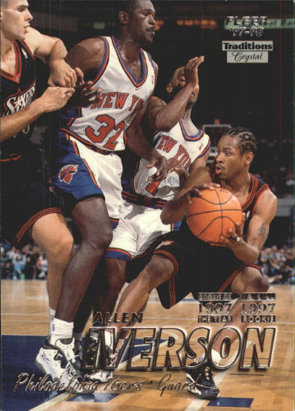 1997-98 Fleer Crystal Collection #300 Allen Iverson