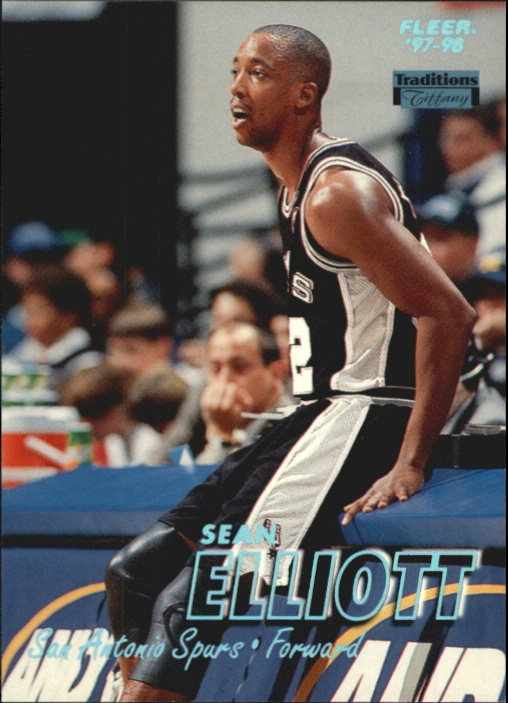 1997-98 Fleer Tiffany Collection #133 Sean Elliott
