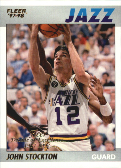 1997-98 Fleer Decade of Excellence #11 John Stockton