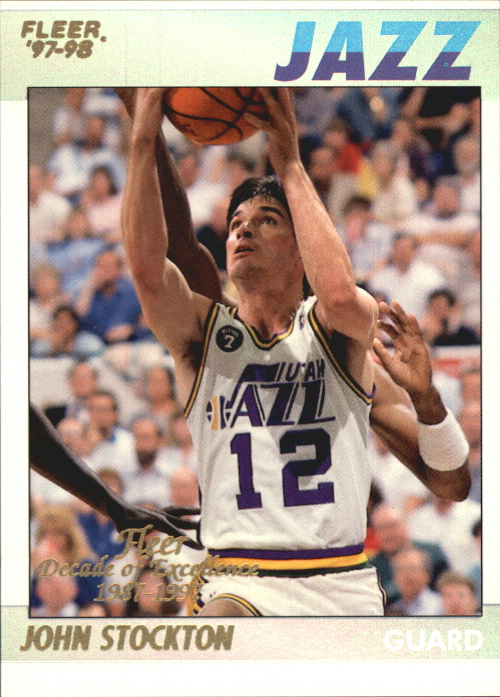 1997-98 Fleer Decade of Excellence Rare Traditions #11 John Stockton