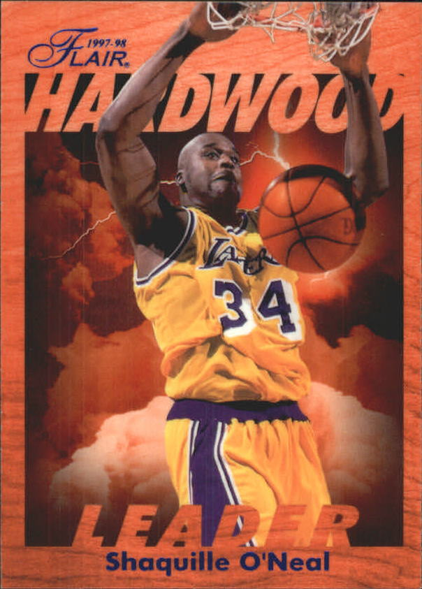 1997-98 Fleer Flair Hardwood Leaders #13 Shaquille O'Neal