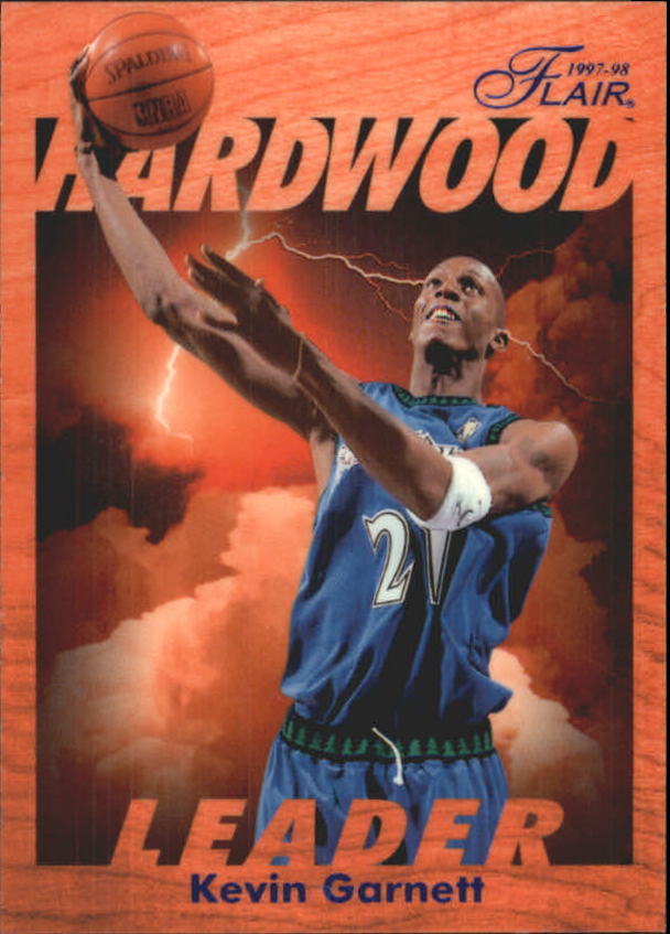 1997-98 Fleer Flair Hardwood Leaders #16 Kevin Garnett