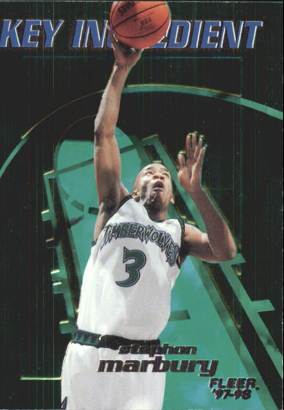 1997-98 Fleer Key Ingredients #7 Stephon Marbury