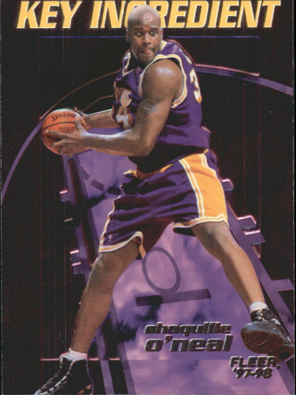 1997-98 Fleer Key Ingredients #9 Shaquille O'Neal