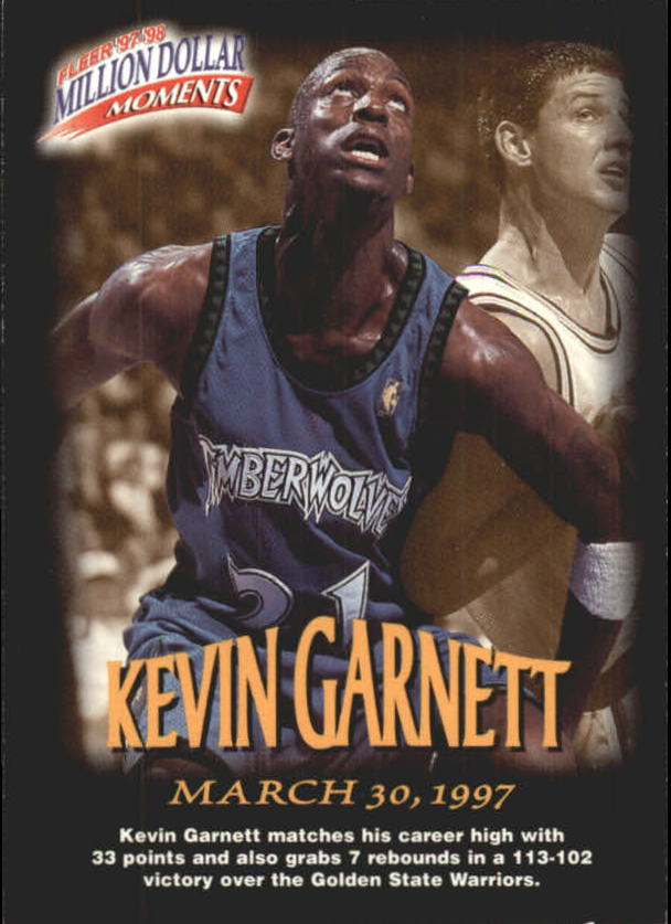 1997-98 Fleer Million Dollar Moments #8 Kevin Garnett