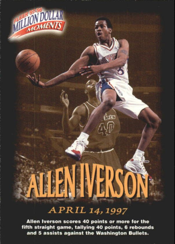 1997-98 Fleer Million Dollar Moments #13 Allen Iverson