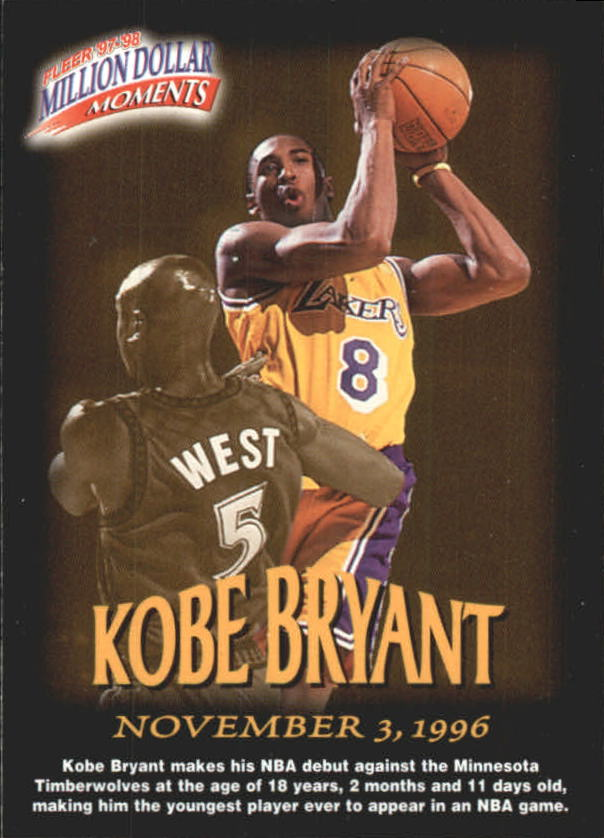 1997-98 Fleer Million Dollar Moments #31 Kobe Bryant