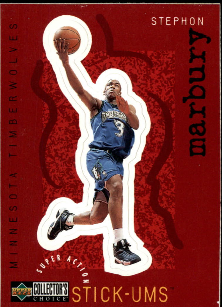 1997-98 Collector's Choice Stick-Ums #S16 Stephon Marbury
